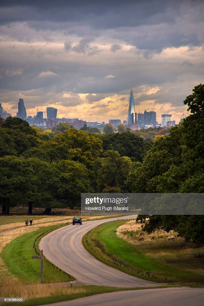 Urban, Rural and Country Landscapes of Richmond Park, London, UK : Stock Photo
