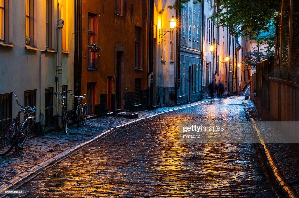 Urban scene in the Night, Stockholm