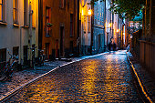 Urban scene in the Night, Stockholm
