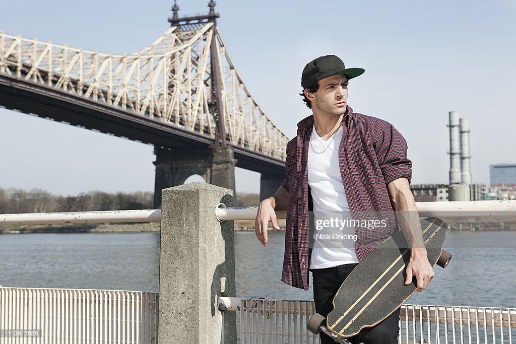 NY urban skateboarder 02 : Stock Photo