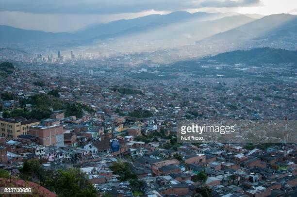 Urban skyline of Medellin Colombia on 20 January 2012