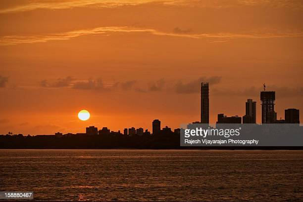 Urban Sunset, Marine Drive, Mumbai
