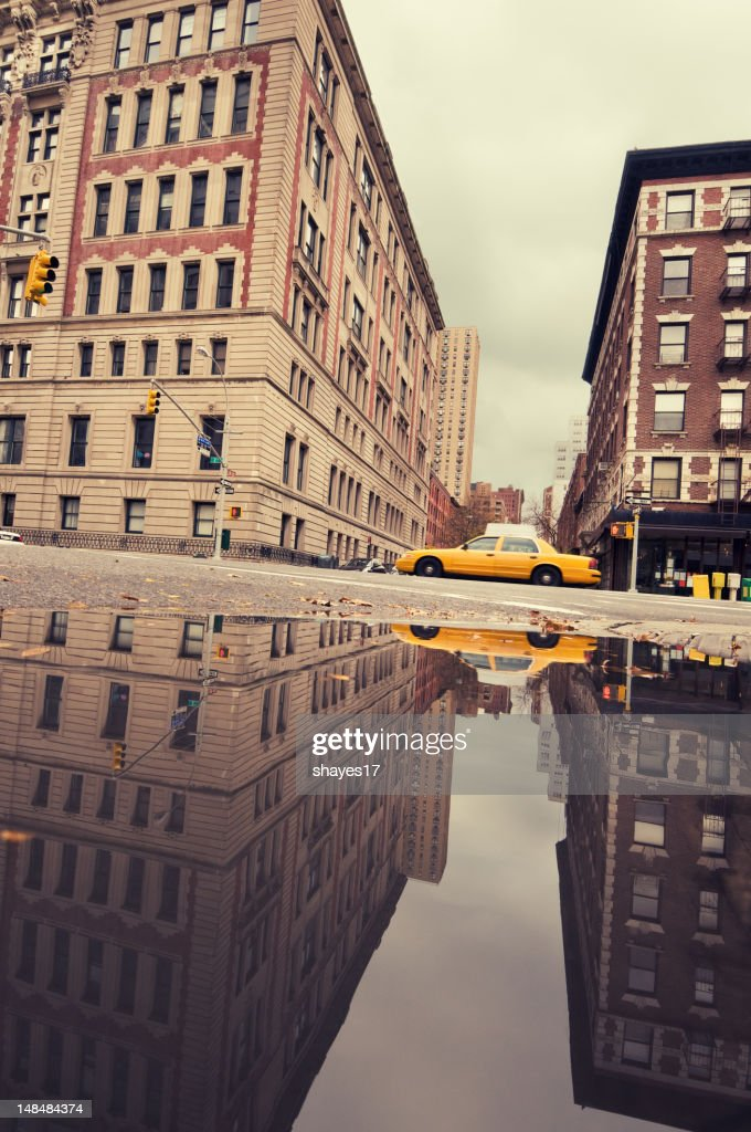 Urban taxi reflection