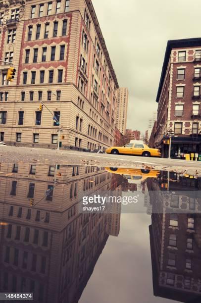 Urban taxi reflection