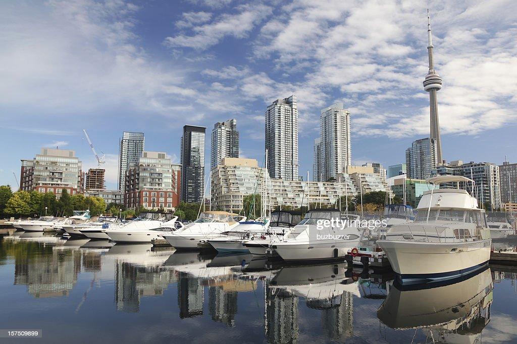 Urban Toronto City Marina : Stock Photo