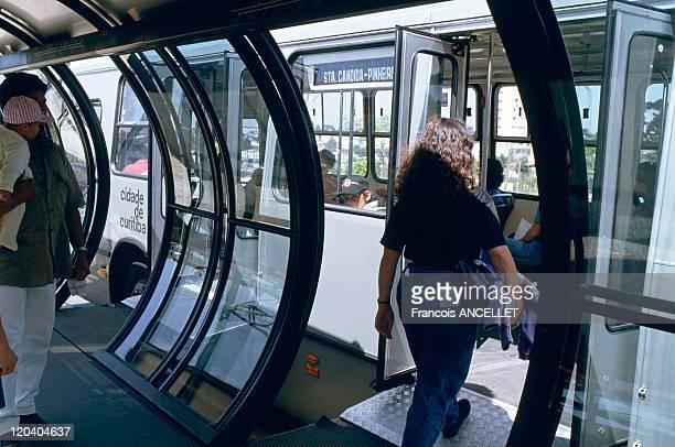 Urban transport in Curitiba Brazil Green city