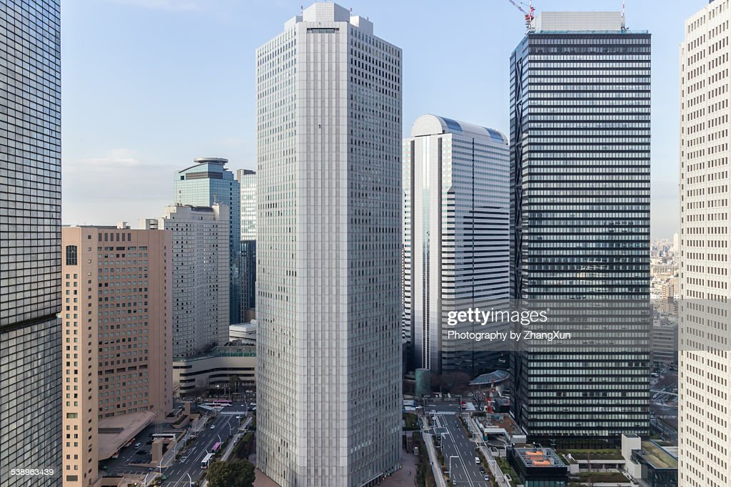 Urban view of Shijuku Tokyo city at daytime