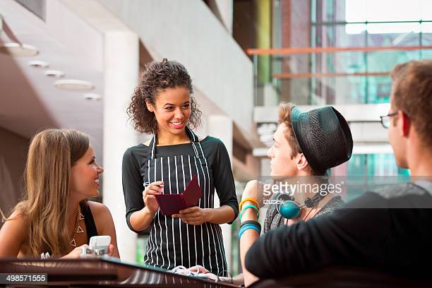 Urban young people in restaurant