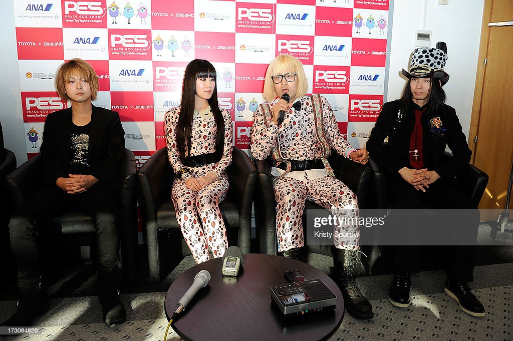 Urbangarde meets with the press during the Japan Expo at Paris-nord Villepinte Exhibition Center on July 6, 2013 in Paris, France.