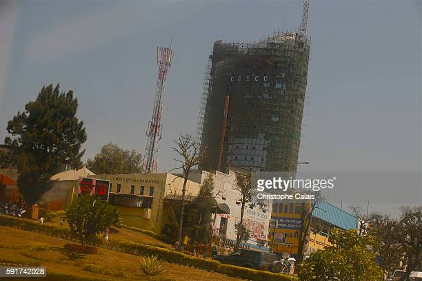 a view of the center of the city and its new offices buildings under construction Located at Rwanda's geographical heart the rapidly growing City of...