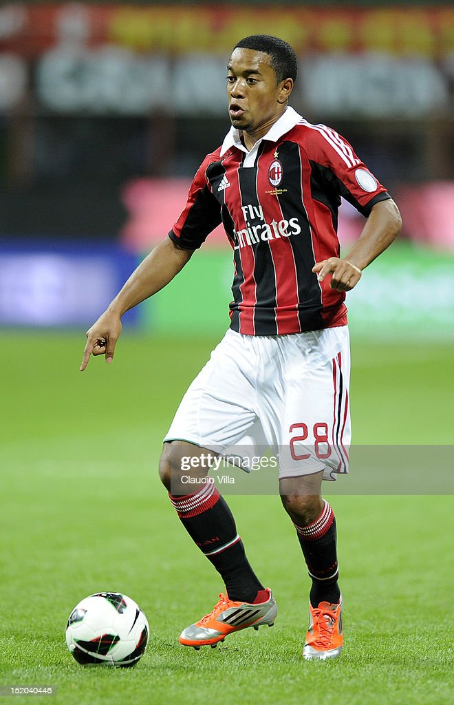Urby Emanuelson of AC Milan during the Serie A match between AC Milan and Atalanta BC at San Siro Stadium on September 15 2012 in Milan Italy