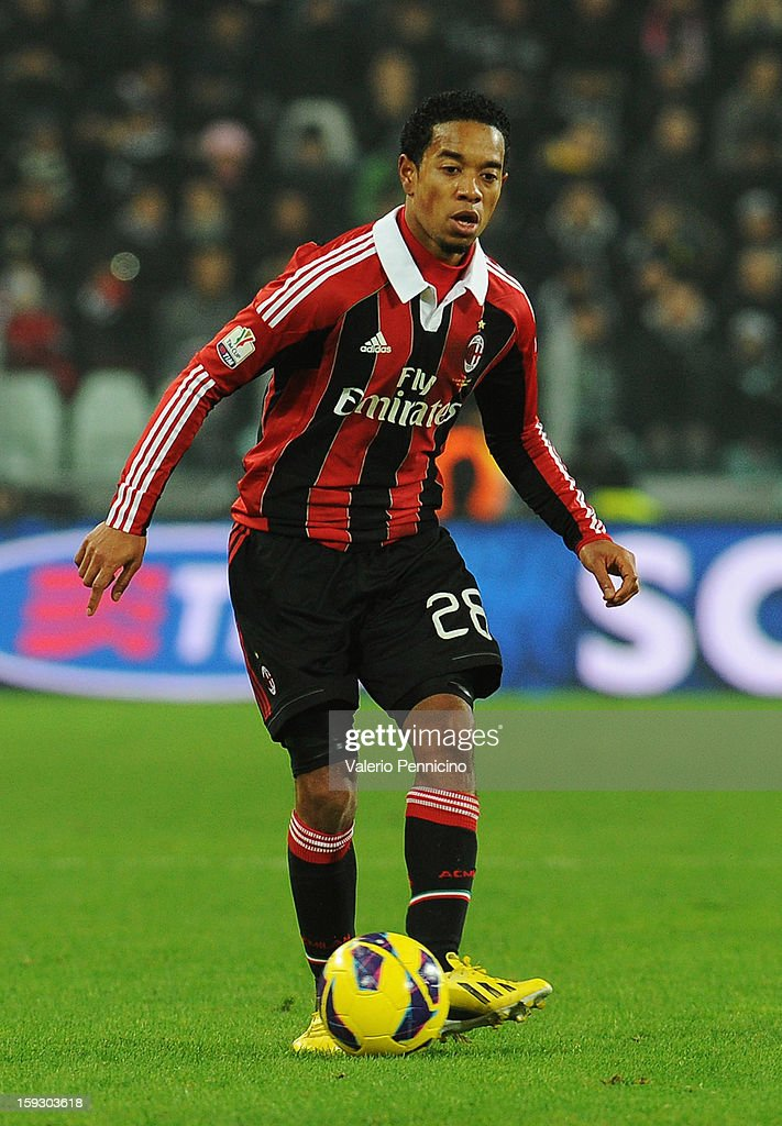 Urby Emanuelson of AC Milan in action during the TIM cup match between Juventus FC and AC Milan at Juventus Arena on January 9 2013 in Turin Italy