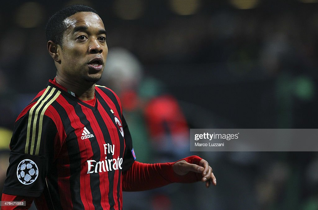 Urby Emanuelson of AC Milan looks on during the UEFA Champions League Round of 16 match between AC Milan and Club Atletico de Madrid at Stadio Giuseppe Meazza on February 19, 2014 in Milan, Italy.
