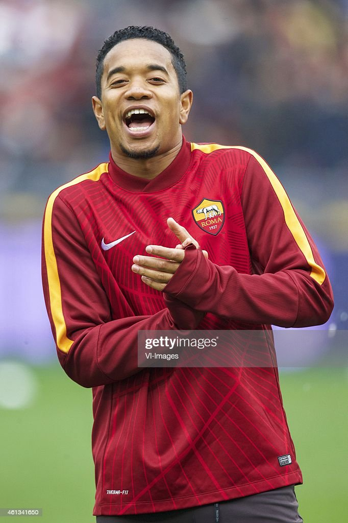 Urby Emanuelson of AS Roma during the Serie A match between AS Roma and Lazio Roma on January 11,2014 at the Stadio Olimpico in Rome, Italy.