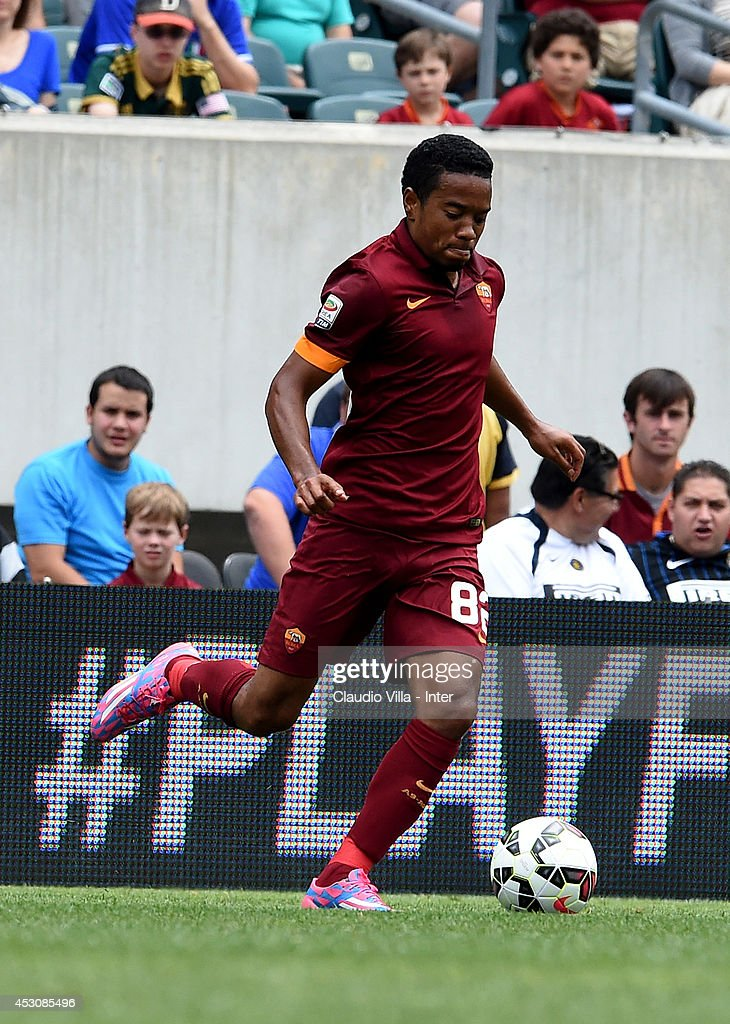 Urby Emanuelson of AS Roma in action during the International Champions Cup 2014 at Lincoln Financial Field on August 2 2014 in Philadelphia...