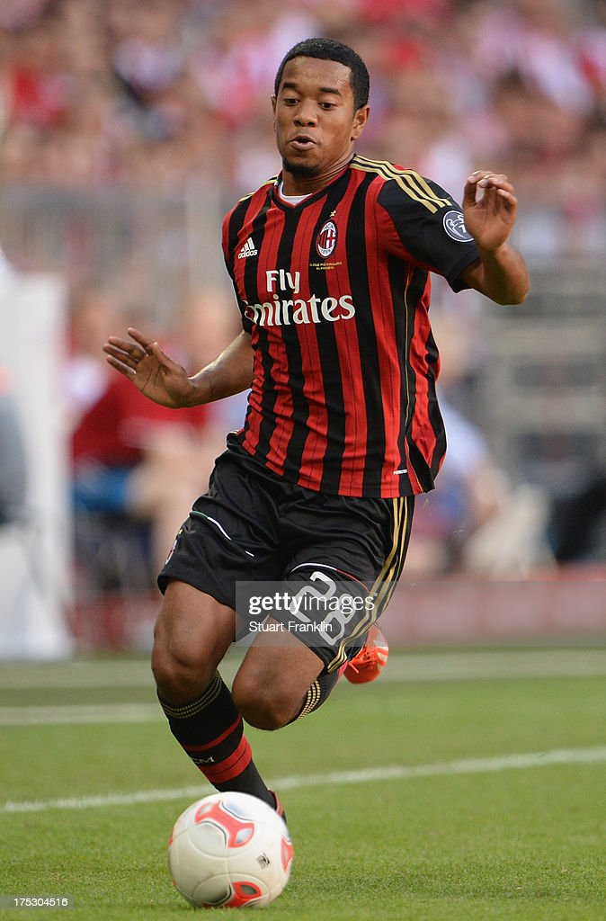 Urby Emanuelson of Milan in action during the third place match between FC Sao Paulo and AC Milan at Allianz Arena on August 1 2013 in Munich Germany