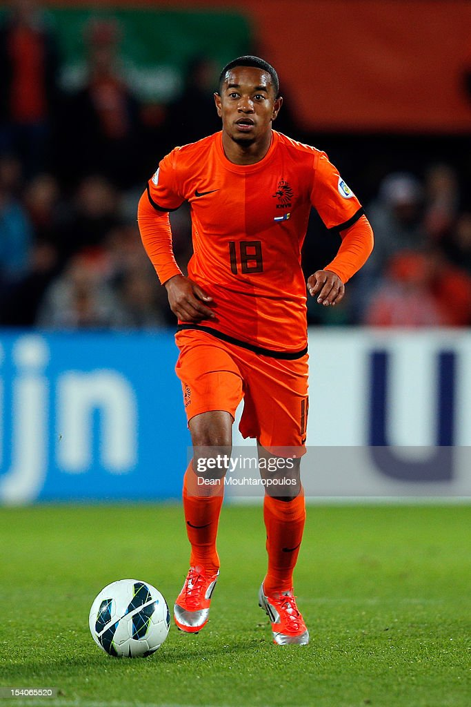 Urby Emanuelson of Netherlands in action during the FIFA 2014 World Cup Qualifier between Netherlands and Andorra on October 12 2012 in Rotterdam...