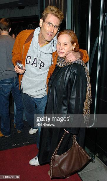 Uri Geller and guest during Rebecca Loos Hosts 2006 PreMarathon Fundraising Party at Volt Lounge in London Great Britain