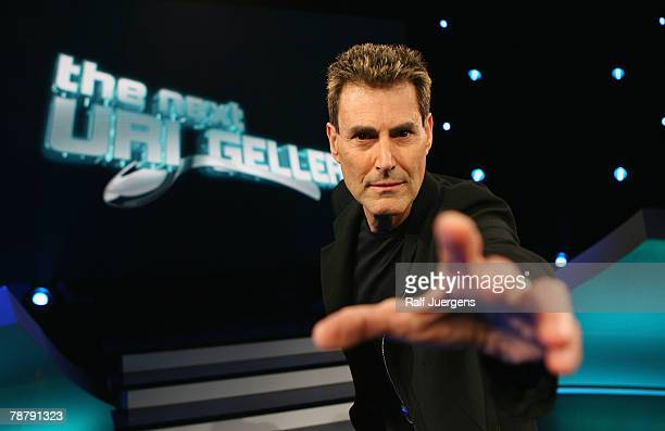 Uri Geller poses during a photocall for his new show 'The next Uri Geller Unglaubliche Phnomene Live' on January 6 2008 in Cologne