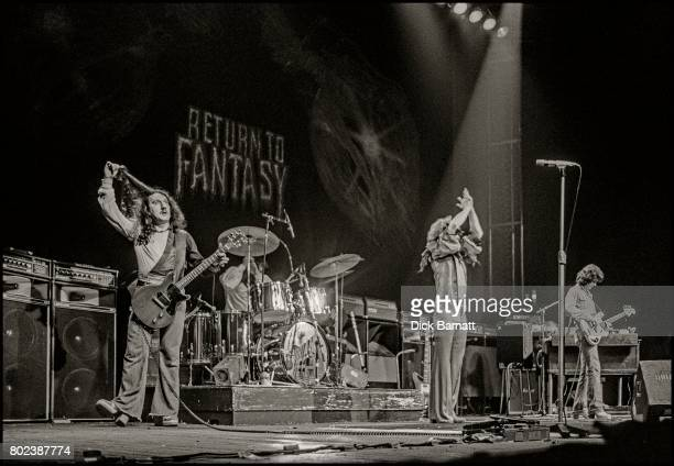 Uriah Heep performing on stage Hammersmith Odeon London December 1975