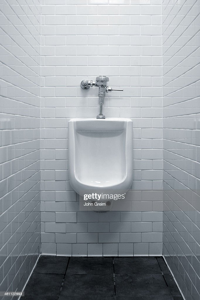 Urinal in men's restroom