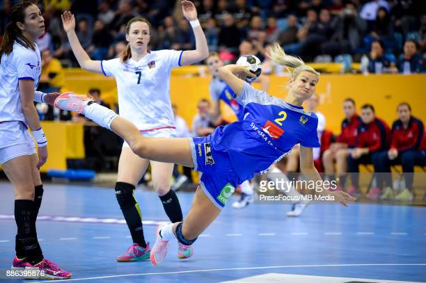 Urlika Toft Hansen of Sweden in action during IHF Women's Handball World Championship group B match between Sweden and Czech Republic on December 05...