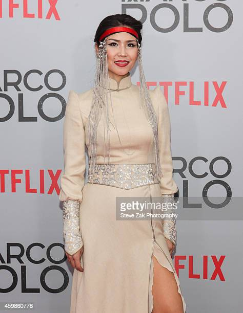 Urm Baljinnyam attends the 'Marco Polo' New York Series Premiere at AMC Lincoln Square Theater on December 2 2014 in New York City