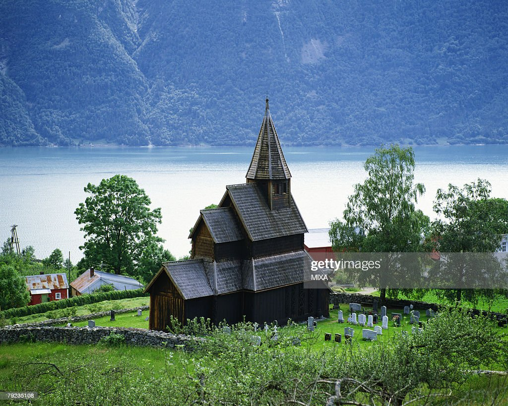 Urnes Stave Church in Norway : Stock Photo