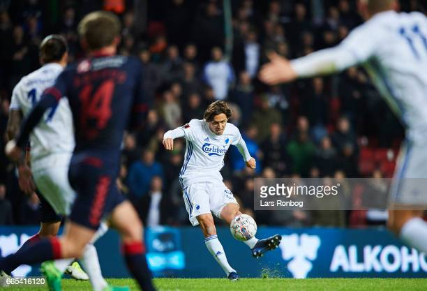 Uros Matic of FC Copenhagen in action during the Danish cup DBU Pokalen quarterfinal match between FC Copenhagen and AGF Aarhus at Telia Parken...