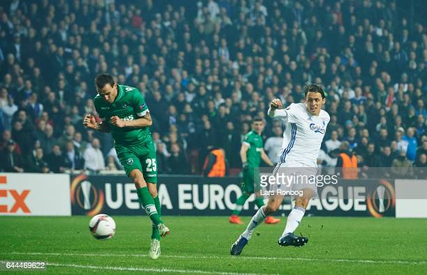 Uros Matic of FC Copenhagen in action during the UEFA Europa League Round of 32 second leg match match between FC Copenhagen and PFC Ludogorets...
