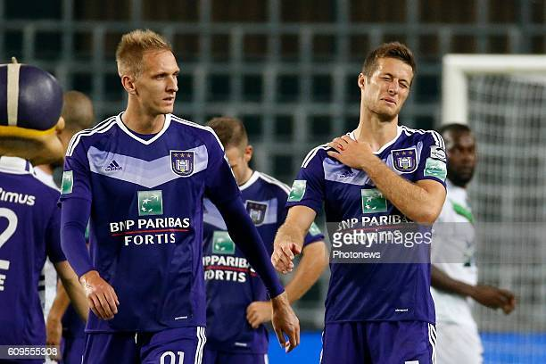 Uros Spajic defender of RSC Anderlecht pictured during Croky Cup match between RSC Anderlecht and OHL on September 21 2016 in Brussels Belgium