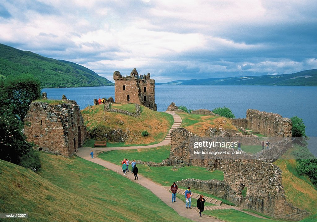 Urquhart Castle on the famous Loch Ness in Scotland