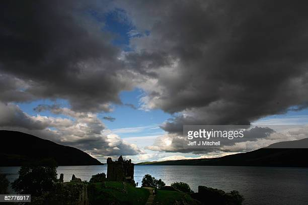 Urquhart Castle which sits on the banks of Loch Ness has been voted one of Britain's favourite tourist spots on September 11 2008 in Urquhart...