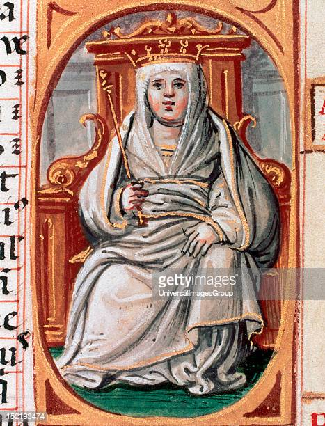Urraca of Le—n and Castile Queen regnant of Le—n Castile and Galicia Portrait from 'Genealogies of the Kings of Spain' National Library Madrid Spain