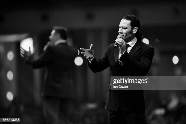 Urs Buhler of Il Divo performs during the Grand Opening of The Mall of Qatar at Mall of Qatar on April 8 2017 in Doha Qatar