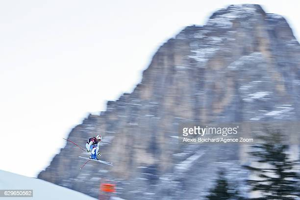 Urs Kryenbuehl of Switzerland in action during the Audi FIS Alpine Ski World Cup Men's Downhill Training on December 14 2016 in Val Gardena Italy