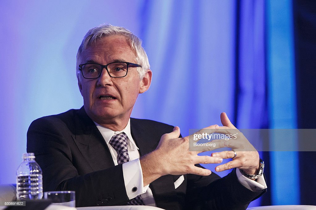 Urs Rohner, chairman of the supervisory board of Credit Suisse Group AG, speaks during a panel session at the Institute of International Finance's Spring meeting in Madrid, Spain, on Tuesday, May 24, 2016. Attendees are hearing from experts from across the industry on the global and regional economic outlook, the global regulatory agenda, and the political landscape in Europe and the U.S. Photographer: Angel Navarrete/Bloomberg via Getty Images