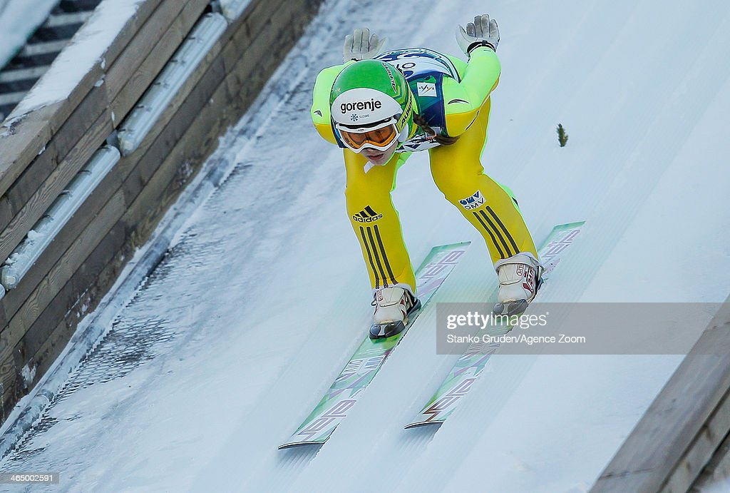 Ursa Bogataj of Slovenia competes during the FIS Ski Jumping World Cup Women's HS95 on January 25, 2014 in Planica, Slovenia.