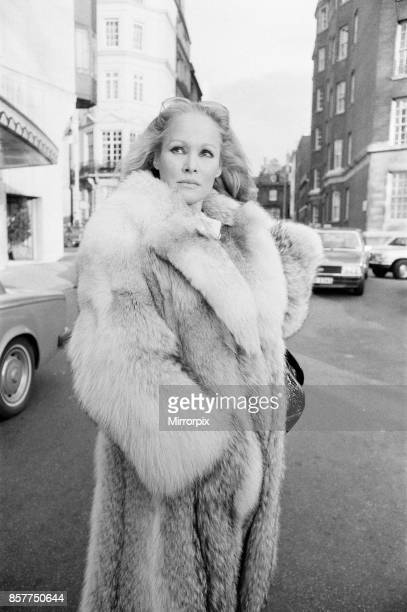 Ursula Andress Swiss film actress pictured outside her hotel The Dorchester in London Tuesday 22nd January 1980 It was recently announced that the...