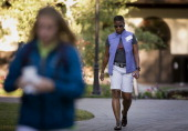 Ursula Burns chief executive officer of Xerox Corp arrives to a morning session during the Allen Co Media and Technology Conference in Sun Valley...