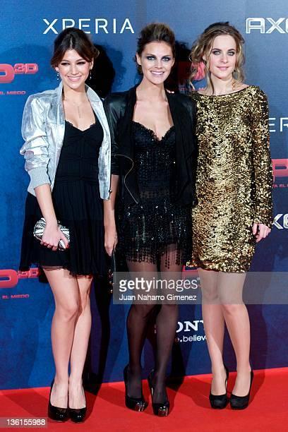 Ursula Corbero Amaia Salamanca and Alba Ribas attend 'XP3D' premiere at Callao Cinema on December 27 2011 in Madrid Spain