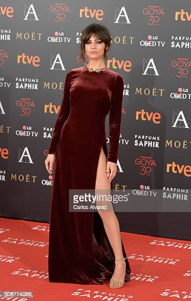 Ursula Corbero attends Goya Cinema Awards 2016 at Madrid Marriott Auditorium on February 6 2016 in Madrid Spain