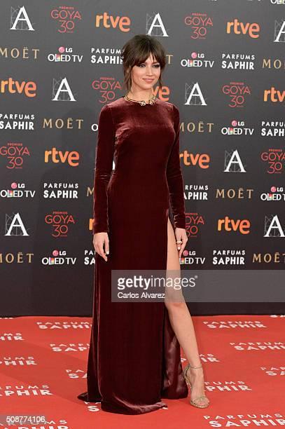 Ursula Corbero attends Goya Cinema Awards 2016 at Madrid Marriott Auditorium on February 6 2016 in Madrid Spain