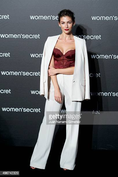 Ursula Corbero attends to the presentation of the Women'secret videoclip at La Riviera on November 11 2015 in Madrid Spain