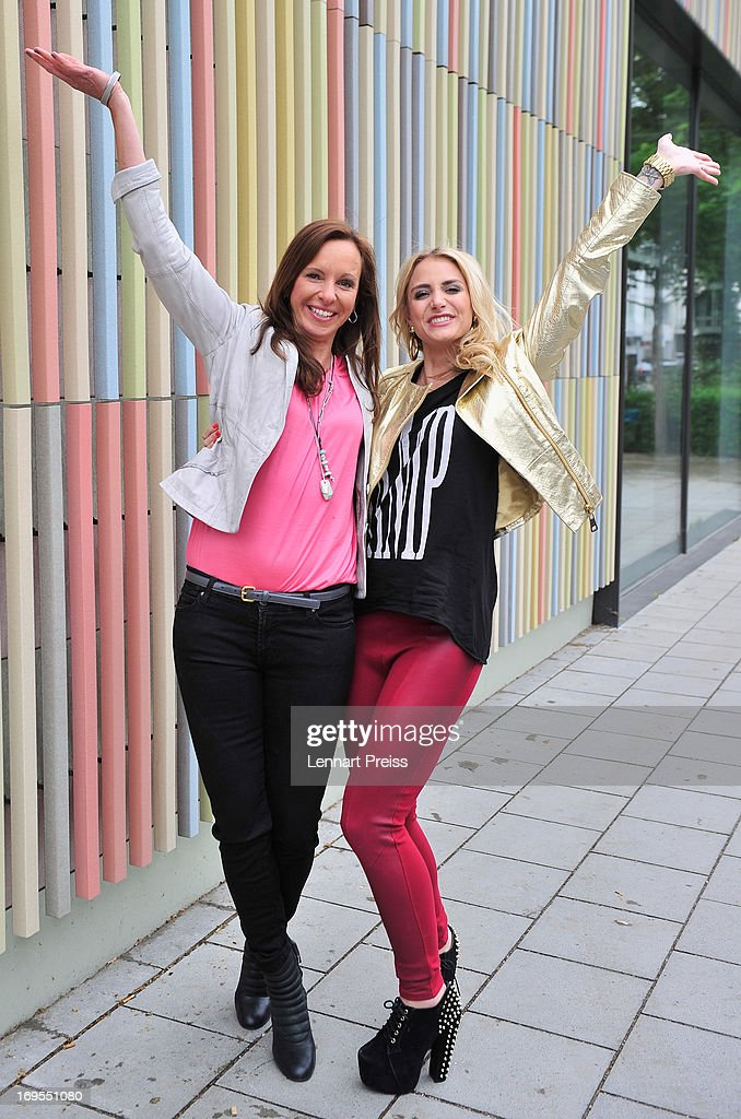 Ursula Hoffmann (L) and Anna Kraft pose prior to the 'Beliebteste Spieler-Frau Deutschlands 2013' Press Reception at Museum Brandhorst on May 27, 2013 in Munich, Germany. Cathy Fischer, girlfriend of Dortmund's defender Mat Hummels, has won the titel as 'Beliebteste Spieler-Frau Deutschlands 2013' ('Germany's most popular player's wife').