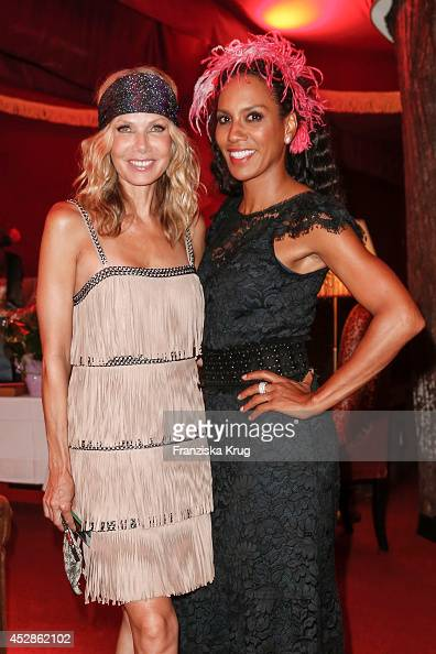 Ursula Karven and Barbara Becker attend the Udo Walz Celebrates His 70th Birthday at BAR jeder Vernunft on July 28 2014 in Berlin Germany