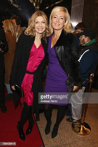 Ursula Karven and Judith Milberg attend the 'GeruechteGeruechte' premiere at Theater am Kurfuerstendamm on January 13 2013 in Berlin Germany