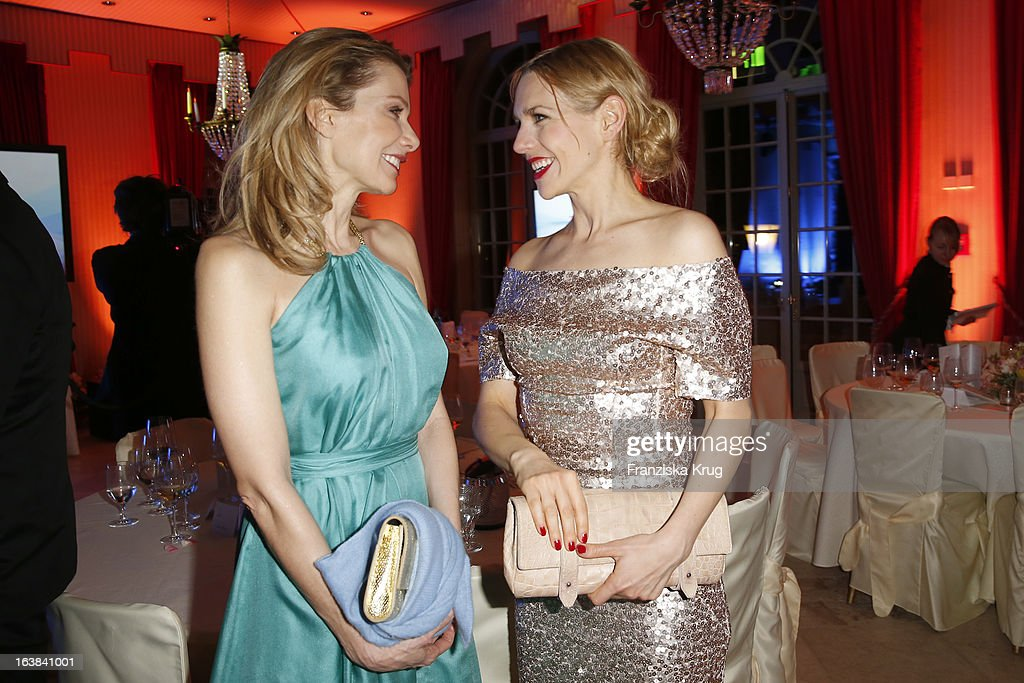 Ursula Karven and Julia Dietze attend the Gala Spa Award 2013 at the Brenners Park Hotel on March 16, 2013 in Berlin, Germany.