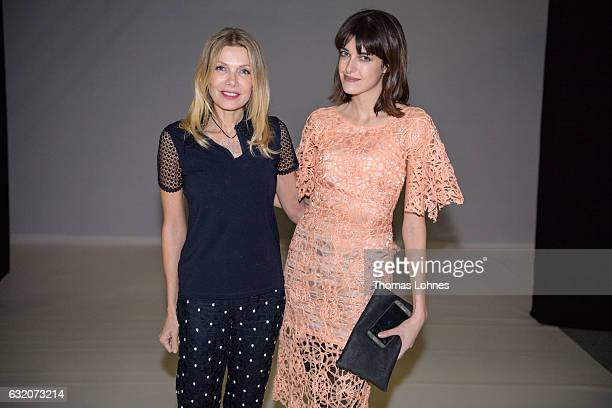 Ursula Karven and Marie Nasemann attend Ethical Fashion on Stage during the MercedesBenz Fashion Week Berlin A/W 2017 on January 18 2017 in Berlin...