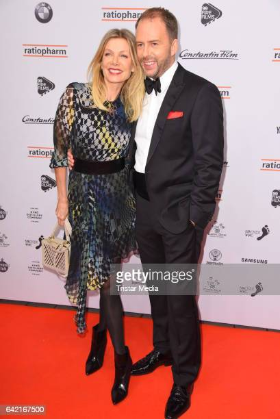 Ursula Karven and Stefan Kiwit attend the 99FireFilmsAward at Admiralspalast on February 16 2017 in Berlin Germany